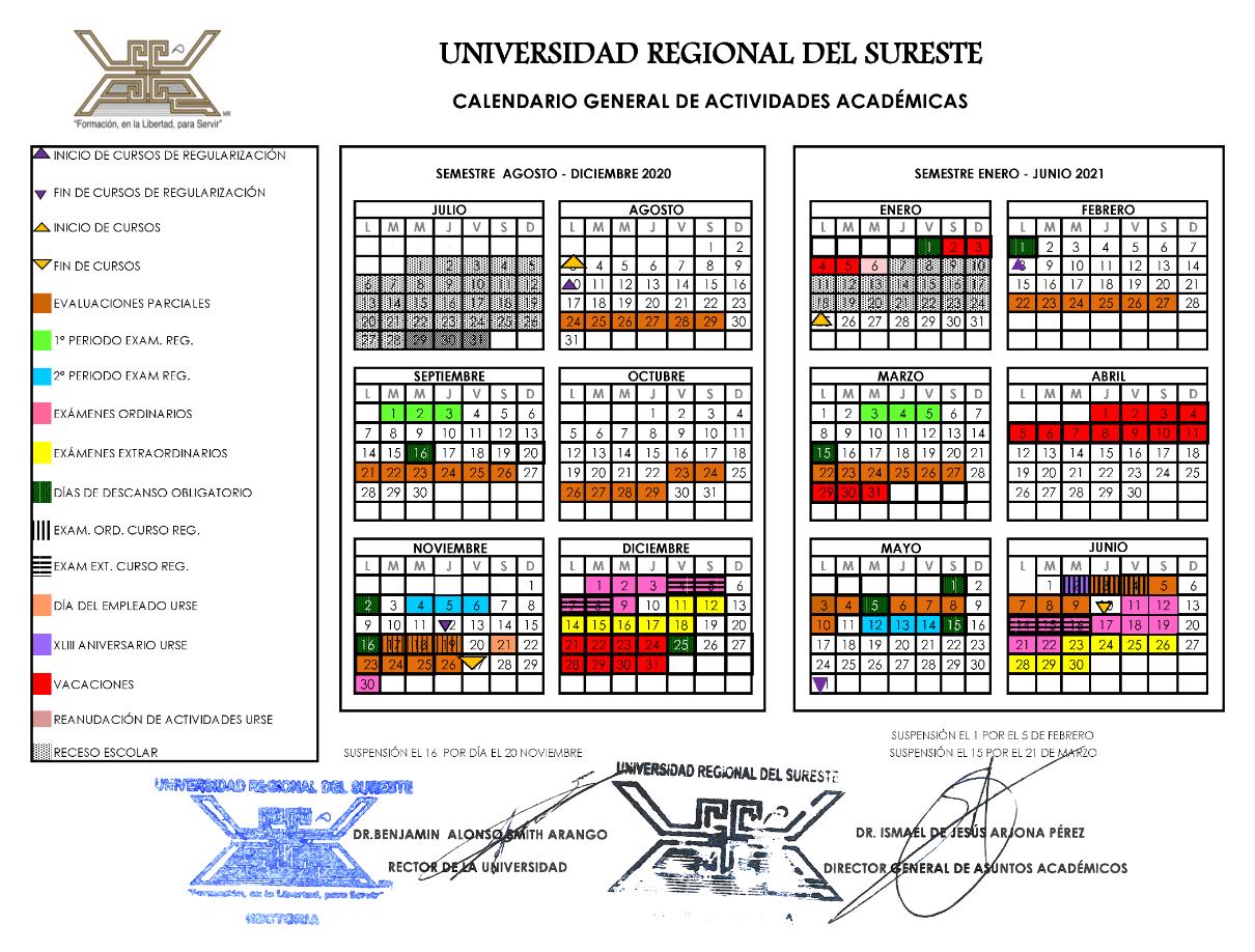 Calendario Escolar URSE